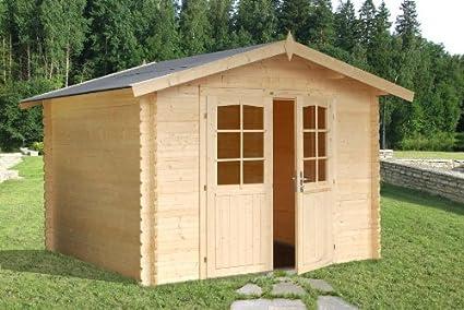 Casa de Jardín en madera de abeto - Dimensiones: 7 m²;