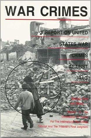 War Crimes: A Report on U S  War Crimes Against Iraq | Lib