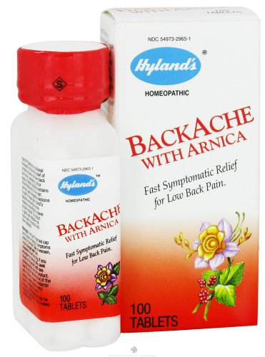 Hyland's Homeopathic Combinations BackAche with Arnica Pain 100 tablets - Single Item