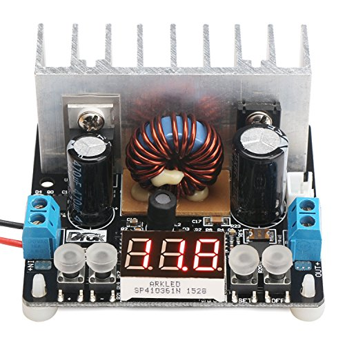 (Step Down Voltage Regulator Board, DROK Numerical Control Buck Converter DC 6-40V 32V 24V to 0-38V 5V 9V 12V 8A NC Digital Adjustable Volt Transformer Stabilized Power Supply Module with LED Voltmeter)