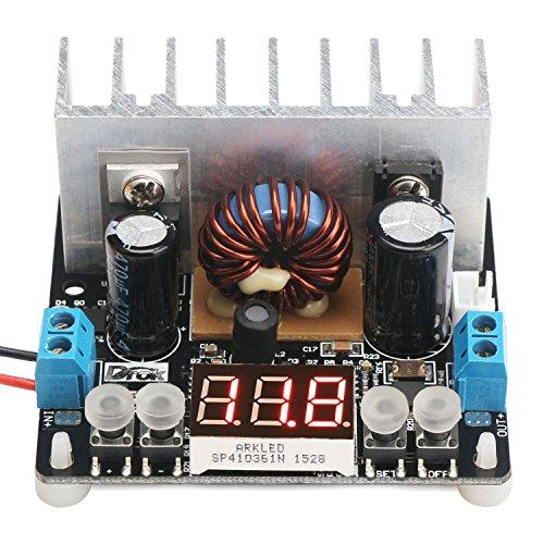 Step Down Voltage Regulator Board, DROK Numerical Control Buck Converter DC 6-40V 32V 24V to 0-38V 5V 9V 12V 8A NC Digital Adjustable Volt Transformer Stabilized Power Supply Module with LED Voltmeter