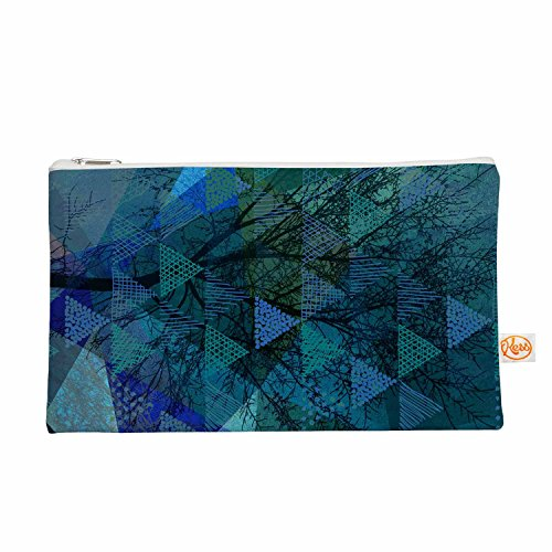 Kess eigene 12,5x 21,6cm Pia Schneider Dreiecke blau melange Alles Tasche–Blau/Grün