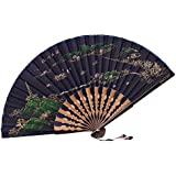 [Chinese & Japanese] Retro Silk Hand Fan Portable Folding Fan Handheld Fan NO.10