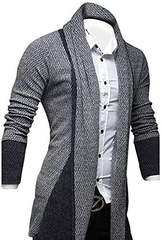 Męska kurtka z dzianiny Long Hooded Open Fashion Pullover Edge Longsleeve Cardigan koszulka z długim rękawem Hoodie Sweatshirt Oversize Hoody Sweater: Odzież