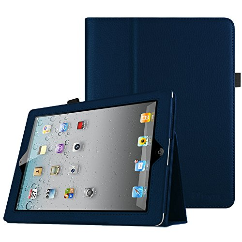 Fintie iPad 2/3/4 Case - Slim Fit Folio Case with Smart Cover Auto Sleep / Wake Feature for Apple iPad 2, iPad 3 & iPad 4th Generation with Retina Display - Navy (4 Color Cover Case)