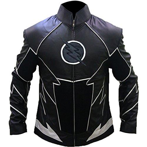 Zoom The Flash Costume (Outfitter Jackets Hunter Zolomon Flash Shield Evil Zoom Black Costume Jacket (S, Black))