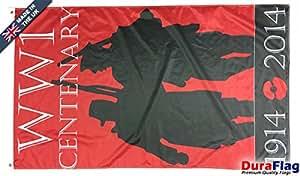 duraflag® Ww1centenario bandera de calidad profesional (puerta y Cambiadas), 5ft x 3ft
