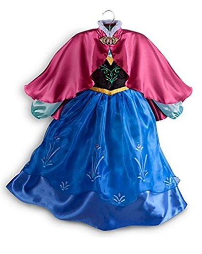 Disney Store Frozen Princess Anna Costume Size Small 5/6 - 5T (Disney Anna Frozen Costume)