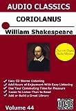 William Shakespeare's Coriolanus 3 Cd Unabridged Audio Set - William Shakespeare