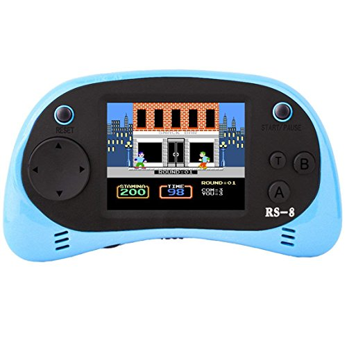 Retro Handheld Game Console & TV Game Controller Built-in 260 Classic Old Style Video Games with 2.5'' Color LCD Screen Portable Arcade Gaming System Birthday Gift for Children (Light Blue) by Bornkid