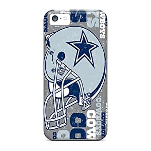 Iphone 5c JfS5900xfGq Allow Personal Design Lifelike Dallas Cowboys Pattern Best Cell-phone Hard Covers -cases-best-covers