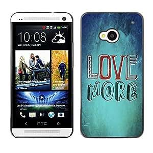 Paccase / Dura PC Caso Funda Carcasa de Protección para - BIBLE Love More - HTC One M7