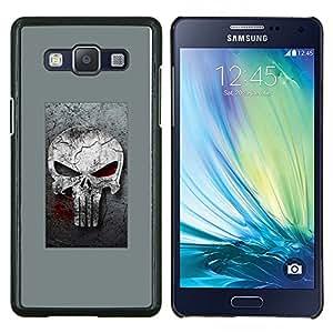 """Be-Star Único Patrón Plástico Duro Fundas Cover Cubre Hard Case Cover Para Samsung Galaxy A5 / SM-A500 ( Gray Sancionar cráneo"""" )"""