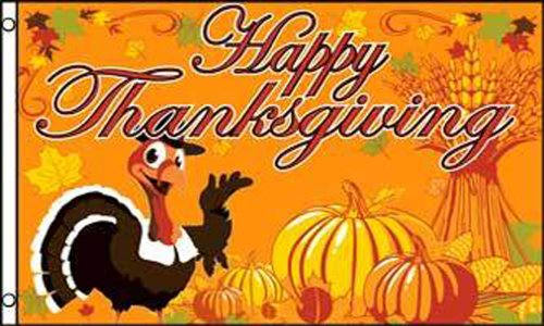 Happy Thanksgiving  polyester Flag 3x5 ft