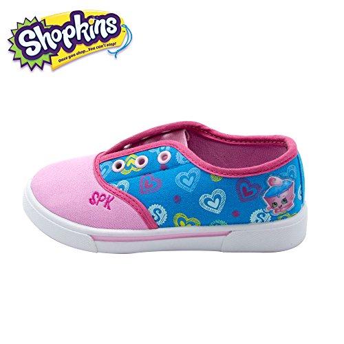 Shopkins Girls Slip-On Canvas Shoes, Size 2 (Slip On Girls Shoes Size 2)