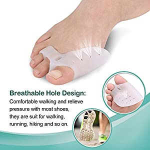 Bunion Corrector & Bunion Relief Protector Sleeves Kit - Treat Pain in Hallux Valgus, Big Toe Joint, Hammer Toe, Toe Separators Spacers Straighteners splint Aid surgery treatment …