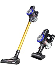 PAVLIT D18 Cordless Vacuum Cleaner, 9000pa Powerful Suction Stick and Handheld Vacuum for Hard Floor, Carpet,Stair Including Rechargeable Battery, Wall Mount and Pet Motorized Brush