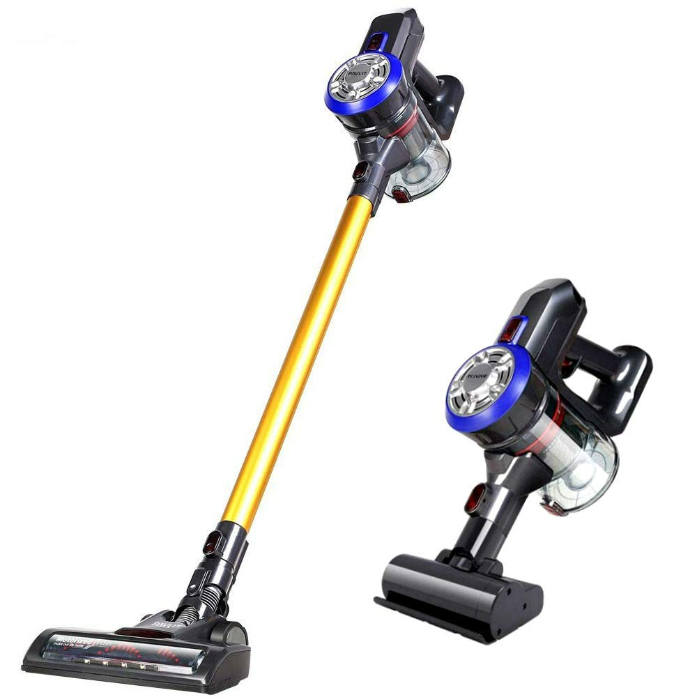 PAVLIT Cordless Vacuum - Powerful Suction Stick Vacuum, 4 in 1 Lightweight Handheld Cordless Vacuum Cleaner for Floors, Carpet, Curtains,Car, Pet with Rechargeable Battery, Led Headlights