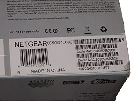NETGEAR DOCSIS 3 0 11-N Data Gateway