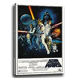 Oops Cuadro Lienzo Star Wars IV una Nueva Esperanza en Bastidor de Madera, Listo para Colgar (90x60) 1