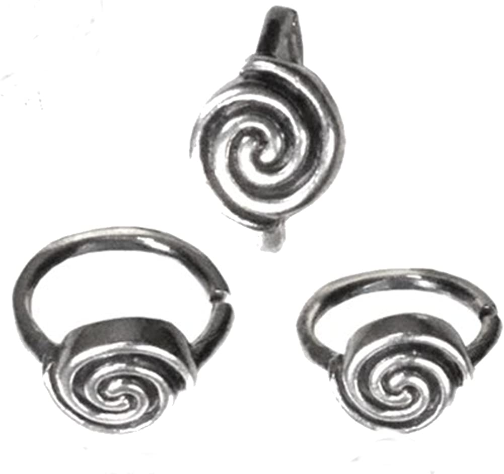 Nostril Piercing Nose Rings Silver Spiral Nose Jewellery Diameter