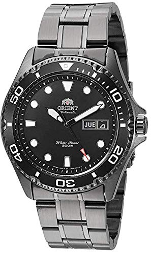 Orient Men's Ray Raven II Japanese-Automatic Watch with Stainless-Steel Strap, Black, 21 (Model: FAA02003B9)