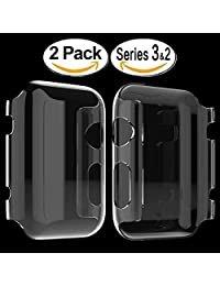 Apple Watch 3 Case, Toeoe PC Hard 4H Hardness All-around Full Coverage Cover With Built-in Screen Protector for Apple Watch Series 3, 2 38mm ([2-pack])