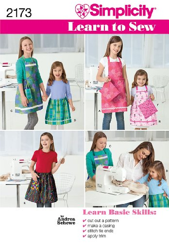 - Simplicity Sewing Pattern 2173: Learn To Sew Child's and Girls' Apron, Size Hh (3-4-5-6)