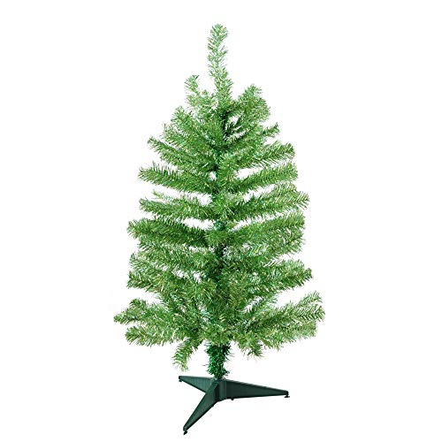 (3' Laser Lime Noble Pine Tinsel Artificial Christmas Tree)