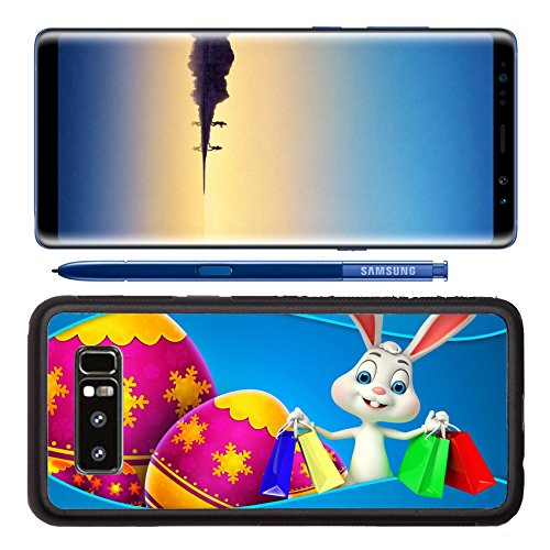Luxlady Premium Samsung Galaxy Note8 Aluminum Backplate Bumper Snap Case IMAGE ID: 27226481 cute easter bunny with shopping - Shopping Cairns
