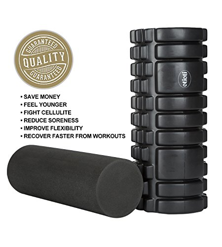 Foam Roller,2 in 1 Foam Rollers for Muscles Massage,Physical Therapy,Exercise,Trigger Point,Black