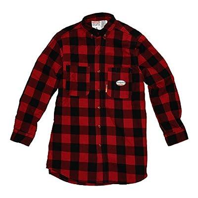 Rasco FR Mens Rasco Black/Red Buffalo Print Flame Resistant Shirt