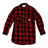 Rasco PBR763 Men's Buffalo Plaid Shirt, Black/Red - RXL