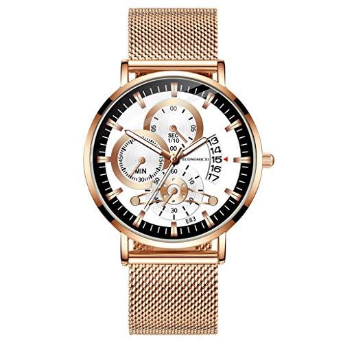 Sodoop Men's Wristwatch,Fashion Simple Stainless Steel Mesh