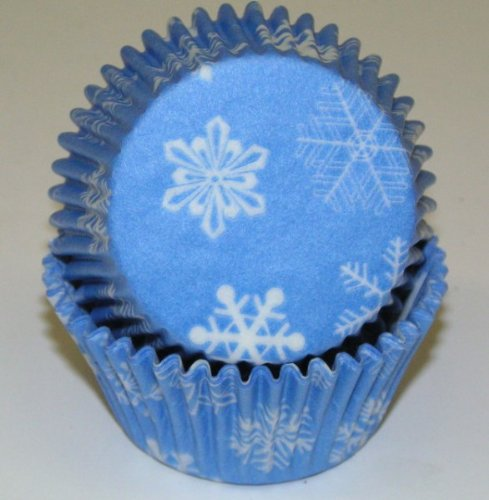 Snowflake Cupcake Liners Baking Cups Standard Size 50 Count Frozen Party (Disney Frozen Cupcake Liners compare prices)
