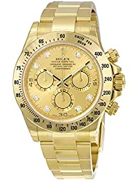 Daytona Champagne Chronograph 18kt Yellow Gold Mens Watch116528CDO