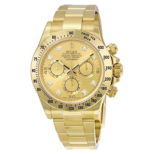 Rolex Daytona Champagne Chronograph 18kt Yellow Gold Men's Watch (Large Image)