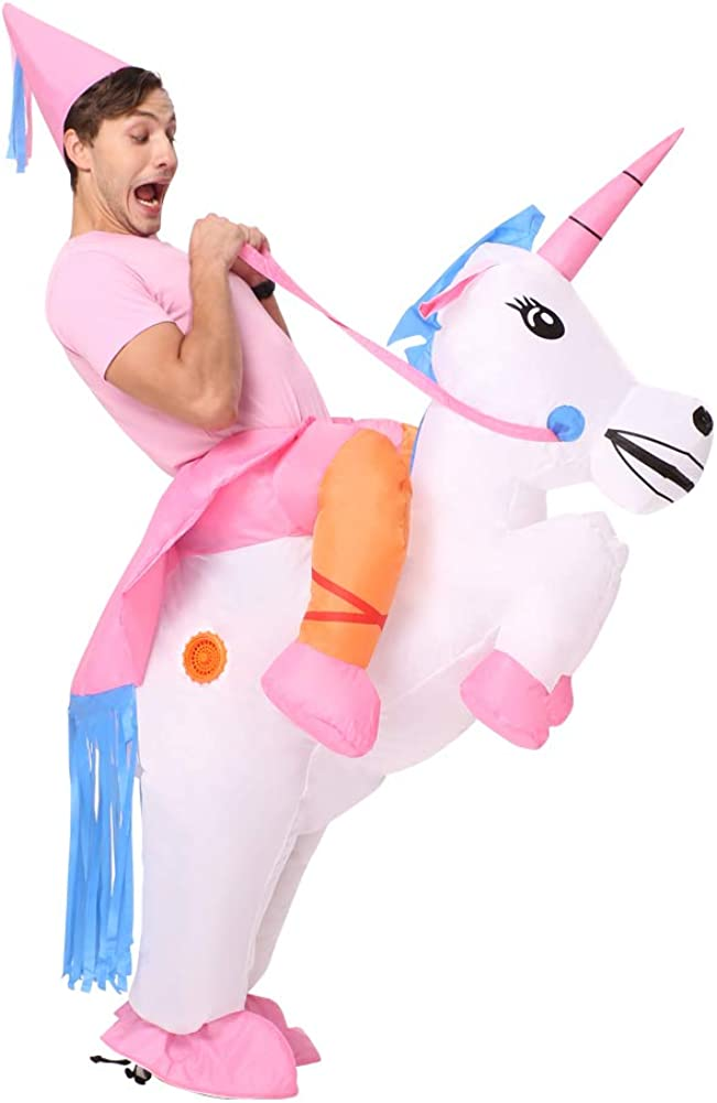 Decalare Inflatable Unicorn T-REX//Horse//Sumo Wrestler Wrestling Suits Costume Halloween Party Blow up Costumes Adult//Kids