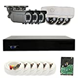 GW Security 8 Channel 4MP DVR 1080P Security Camera System – 6 x 2MP Weatherproof 2.8-12mm Varifocal Zoom (3) Bullet & (3) Dome Camera, Long Transmit Range (984ft), Pre-Installed 2TB HDD Review