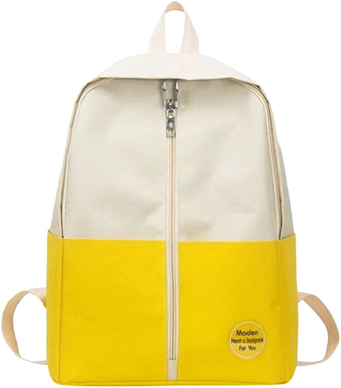 Grande Zaino Zip-Up,Piccolo Fresco Borsa Donna Casual Borse a Zainetto Moda Dayback Backpack Elegante Borsa per Scuola Viaggio Shopping