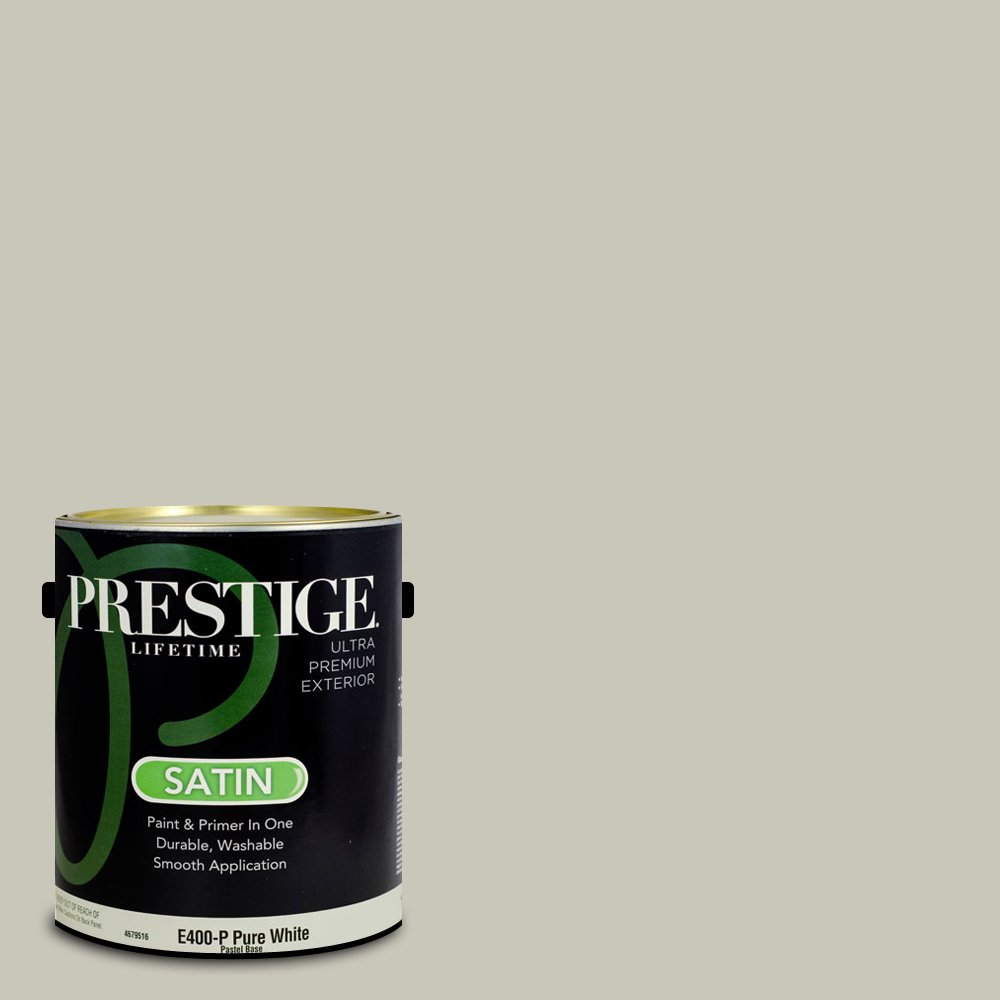 Prestige Paints Exterior Paint and Primer In One, 1-Gallon, Satin,  Comparable Match of Benjamin Moore Brushed Aluminum