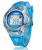 Children's new multifunction water-proof digital sport watch,blue