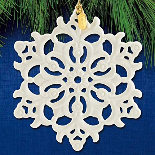 Ornament Fantasy - Lenox 2018 Snow Fantasies Snowflake PORCELAIN Ornament New in box