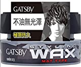 types Mandom Gatsby Hair Wax Mat Type 80g