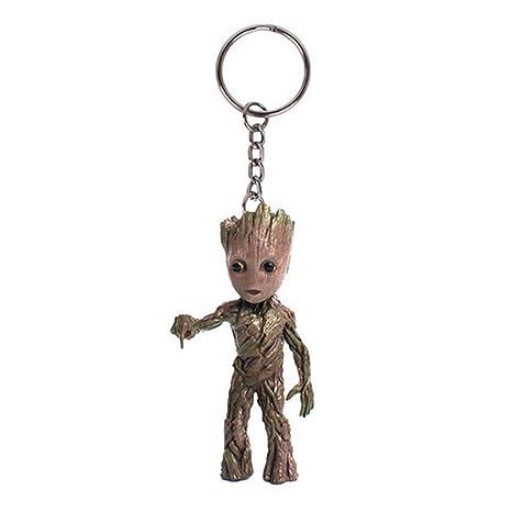 xiaohua392 Guardianes de Galaxy Doll, Groot Llavero ...