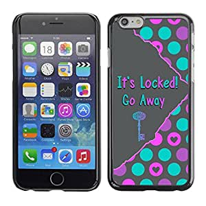 Paccase / SLIM PC / Aliminium Casa Carcasa Funda Case Cover - Go Away Hands Off Pink Teal Grey - Apple Iphone 6