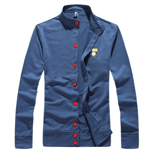 Hee Grand Men's Casual Sports Suits Cardigan+Trousers Chinese XXL Blue