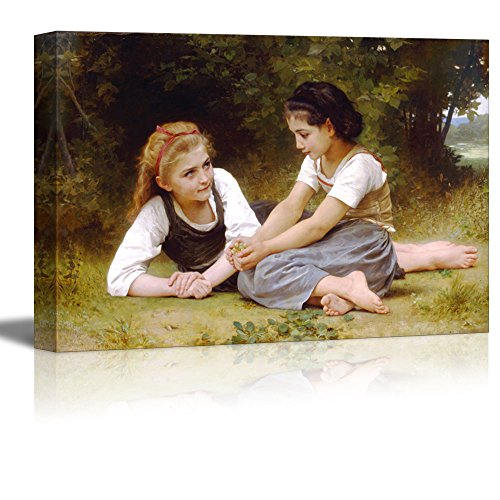 Bouguereau Canvas Art - Wall26 - The Nut Gatherers by William-Adolphe Bouguereau - Canvas Print Wall Art Famous Painting Reproduction - 24