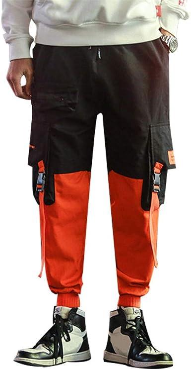 Dcola Pantalones De Jogging Para Hombres Pantalones De Hip Hop Deportivos Multibolsillos Negros Pantalones Cargo De Moda Urbana Pantalones De Combate Para Adolescentes Y Ninos Pequenos Xl Orange Amazon Es Ropa Y Accesorios