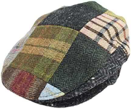 f27a280c Biddy Murphy Irish Hats for Men Men's Flat Irish Hat Patchwork 100% Wool  Made in